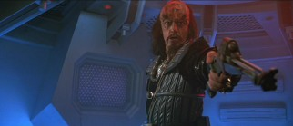 "Commander Kruge (Christopher Lloyd) does not take kindly to differing opinions in ""Star Trek III."""