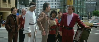 "Kirk and his crew don't necessarily blend all that well with their 1986 surroundings in ""Star Trek IV: The Voyage Home."""