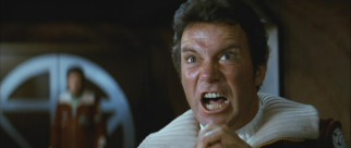 Kirk (William Shatner) loses his cool in a scene that's been parodied time and time again. (Khaaaan!!!)