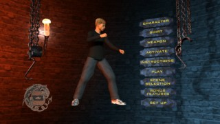One of several possible main menus, viewers can choose from a limited number of options to create an avatar.