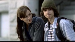"Andie shares a bench with ""endearing"" geek/ropes-shower Moose (Adam G. Sevani) in this longest of the DVD's 8 deleted scenes."
