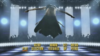 "Natalie makes a dramatic leap that leaves a trail behind her in the stylized ""Step Up 3"" main menu."
