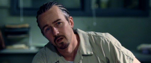 "Edward Norton creates a bold character in Gerald Creeson, a convict's whose peeps call him ""Stone"" and who must go through Jack Mabry to secure an early prison release."