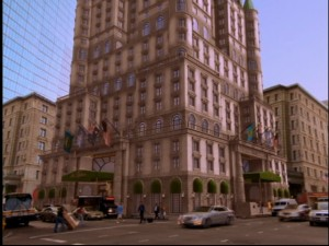 The Tipton as seen in a largely computer-generated establishing shot.