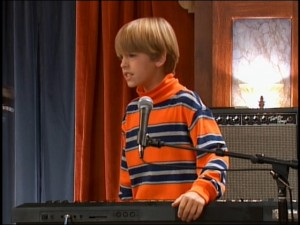 Cody (Cole Sprouse) is frustrated that his bandmates don't take competition as seriously as he does.