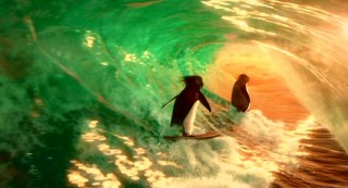 Cody and Geek surf off into the sunset before Annette Funicello arrives to film her latest beach picture.