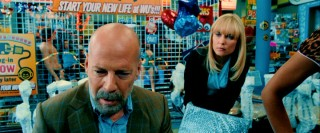Agent Greer (Bruce Willis) gathers his senses after a brief test-drive of a surrogate nothing like himself.