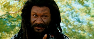 Rocking long dreads and a full beard, Ving Rhames plays the anti-surrogate faction leader known only as The Prophet.