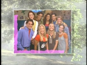 The regular cast of students as seen in the Sweet Valley High opening credits.