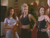 Jess and friends at the homecoming dance in the premiere episode.
