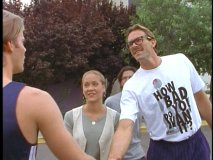 "Former Laker Kurt Rambis drops by in ""Club X."""