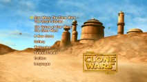 Disc 2's main menu provides a living look at Tatooine.