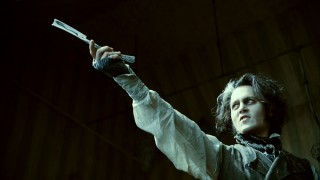 Sweeney Todd admires his razor blade on a number of occasions, this being one of the prouder.