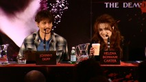 Johnny Depp and Helena Bonham Carter make up one-third of the panel for the included November 2007 Sweeney Todd Press Conference.