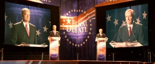 The two presidential candidates vie for a single man's vote with one final debate.
