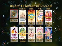 Disney Through the Decades Featurette Menu