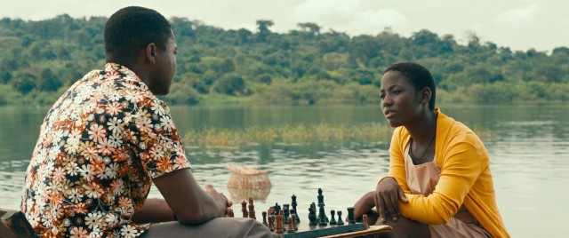 "Phiona Mutesi (Madina Nalwanga) becomes the pride of Katwe for her chess-playing abilities in Disney's ""Queen of Katwe."""