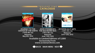 Here today, gone tomorrow: the Twilight Time catalogue gives you updated availability of all the Blu-rays they've released over the past several years.