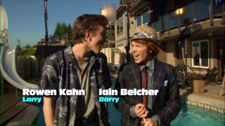 Rowen Kahn and Iain Belcher sing Debby Ryan's praises in unison, as rehearsed.