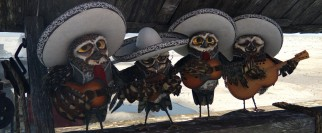 A death-fixated owl mariachi band functions as Greek chorus to tell Rango's story.