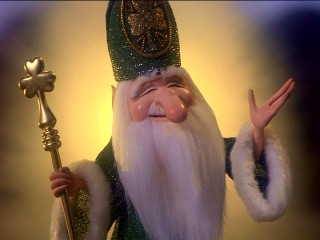 "It's Saint Patrick FTW in ""The Leprechauns' Christmas Gold."""