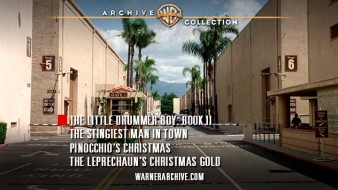 The Warner Backlot is the lazy backdrop to the DVD's one and only menu screen.
