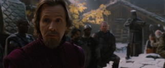 Gary Oldman plays witch hunter Father Solomon, whose reputation precedes him and whose soldiers protect him.