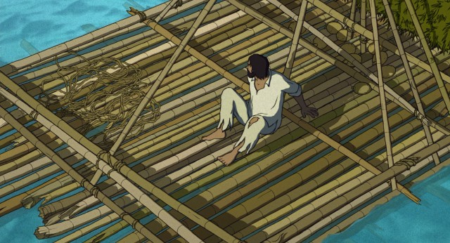 "A man is cast away on an island in the Academy Award-nominated animated film ""The Red Turtle."""