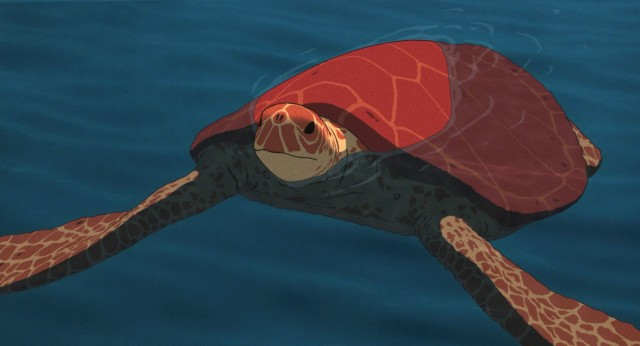 "The large, eponymous red turtle transforms into something else in ""The Red Turtle."""