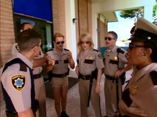 The Reno police officers assemble in this Season 1 episode.