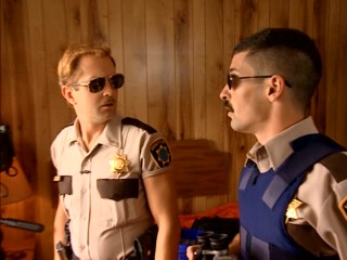 Lt. Dangle (Thomas Lennon) and Dep. Junior (Robert Ben Garant) believe they've just spotted Leonard Nimoy on a stakeout.