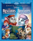 The Rescuers & The Rescuers Down Under: 2 Movie Collection Blu-ray + DVD cover art -- click for larger view and to preorder from Amazon
