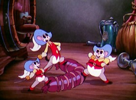 Three Blind Mouseketeers don't need sight to slice up meat in this 1936 Silly Symphony short.