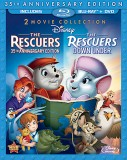 The Rescuers & The Rescuers Down Under: 2 Movie Collection Blu-ray + DVD cover art -- click to buy from Amazon.com