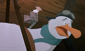 "Wilbur the albatross (voiced by John Candy) features more extensively in ""The Rescuers Down Under"" than his brother Orville did in the original film."
