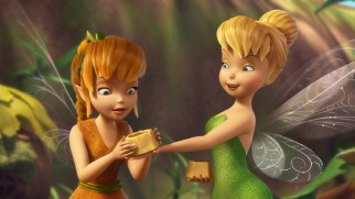 "Tinker Bell isn't about to let Fawn miss out on honeycomb cake in the Pixie Previews short ""Just Desserts."""
