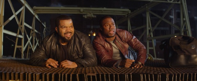 "In ""Ride Along"", the eventful day of James Payton (Ice Cube) and Ben Barber (Kevin Hart) reaches new heights with a giant warehouse explosion."