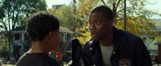 Ben (Kevin Hart) is shown little respect by this young playground interrogation suspect.