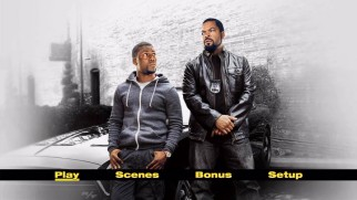 Ride Along's theatrical one-sheet becomes its basic main menu image on DVD and Blu-ray.
