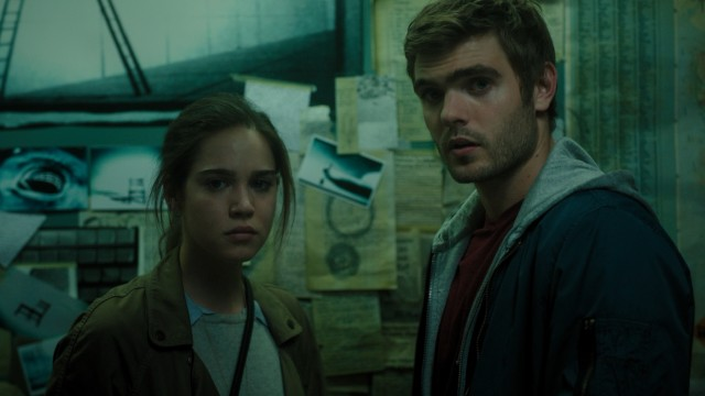 "In ""Rings"", Julia (Matilda Lutz) goes looking for her missing collegiate boyfriend (Alex Roe) and finds he's deep into a disturbing game."