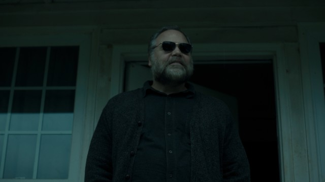 Vincent D'Onofrio plays Galen Burke, a blind man with a bit of a past.