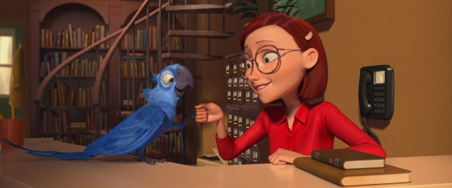 Having grown up together in Minnesota, Blu (voiced by Jesse Eisenberg) and Linda (Leslie Mann) have a very close and comfortable relationship.