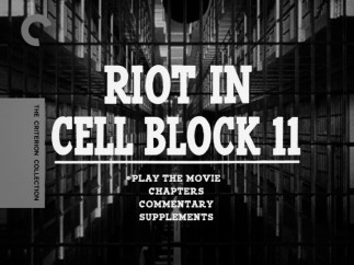 A straightforward shot of the cell block in which the film is set serves as the menu image on DVD and Blu-ray.