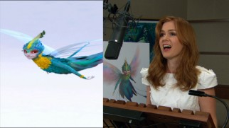 "Isla Fisher looks her very best to record the Tooth Fairy's lines in ""Dreamers and Believers."""