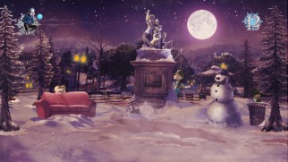 "In the Blu-ray game ""Jack Frost Snowball Showdown!"", you throw and dodge your way to success."