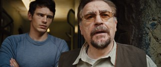Will (James Franco) entrusts sanctuary owner John Landon (Brian Cox) with Caesar, a decision he comes to regret.