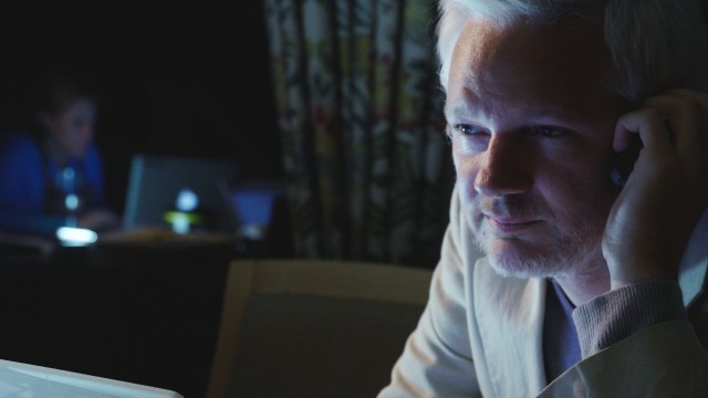 "WikiLeaks founder and editor-in-chief Julian Assange is the subject of Laura Poitras' 2017 documentary ""Risk."""