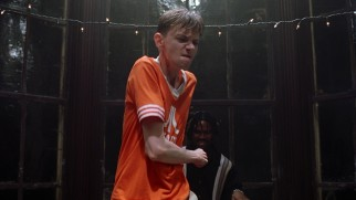 Kyle (DJ Qualls) breaks out his dance moves at a black fraternity's party in Tennessee.
