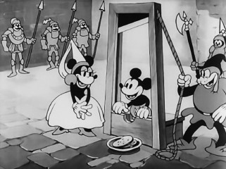 "Mickey Mouse bravely risks his neck to save Princess Mickey in the 1933 short ""Ye Olden Days"", generously presented in stunning high definition."