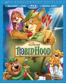 Robin Hood: 40th Anniversary Edition Blu-ray + DVD + Digital Copy combo pack cover art -- click to buy from Amazon.com